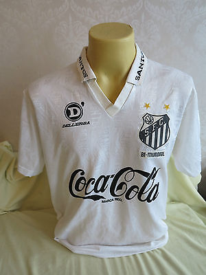 Santos Football Shirt Home 1993 1994 Player Issue maybe worn match L RARE 10