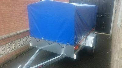 Car Trailer with cover Camping box 7ft Fully galvanised