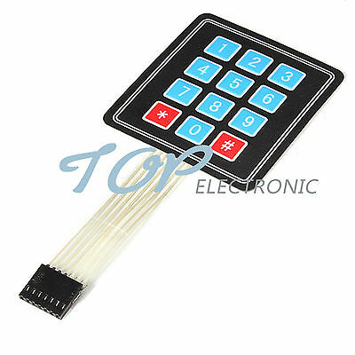 1/2/5/10PCS  12 Key Membrane 4x3 Matrix Array  Switch Keypad Keybo