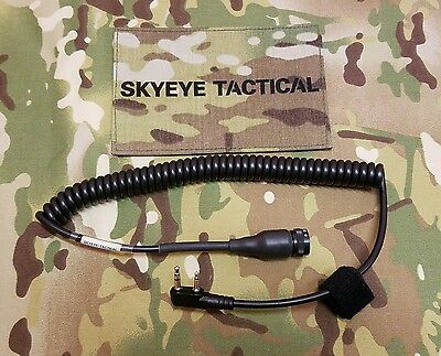 SKYEYE Tactical Custom Nacre QuietPro Radio Cable for Kenwood 2 Pin Radio.