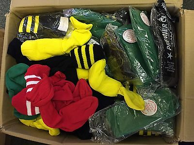 Wholesale Job Lot/Bundle of 100 Kids Football Rugby Sports Socks - Brand New