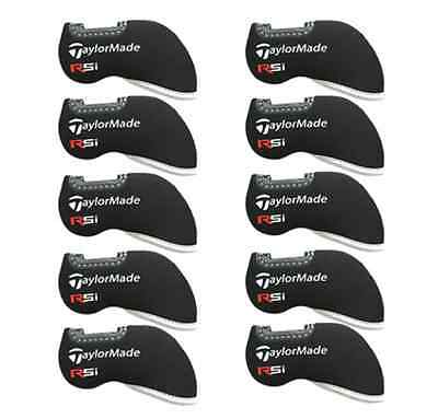 10PCS Black Neoprene Golf Iron Covers HeadCovers For Taylormade RSi Irons Window