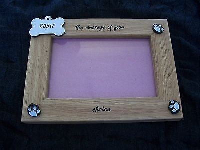 PERSONALISED Wood Photo Frame  - Christmas Gift From The Dog