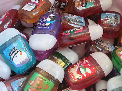 20 Bath Body Works Holiday Assorted PacketBac Anti-Bacterial Hand Gel Sanitizer