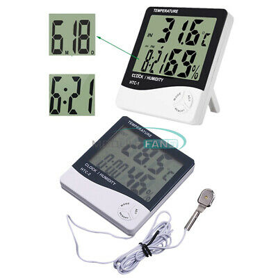 HTC-1/2/3/4 Weather Thermometer Hygrometer Humidity Alarm Clock Out/indoor