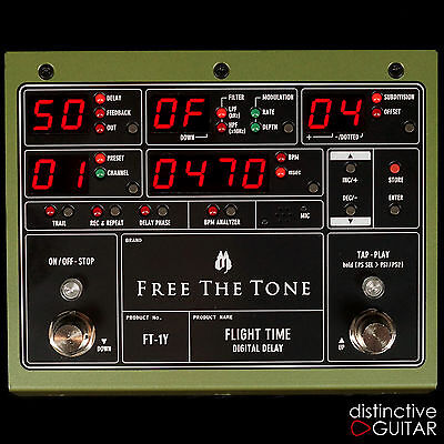 New Free The Tone Ft1Y Flight Time Digital Delay - Versatile Boutique Fx Pedal