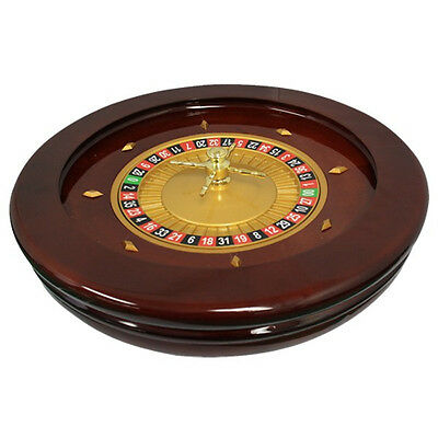 """20"""" Solid Wood High Glossy Roulette Wheel for Roulette Tables"""