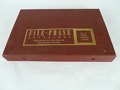 Vintage 1950's Five-Phase Anteriors Dental Denture Creating Kit