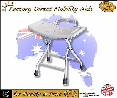 Folding Steel Shower stool / Chair with Handle Great for travel! NEW