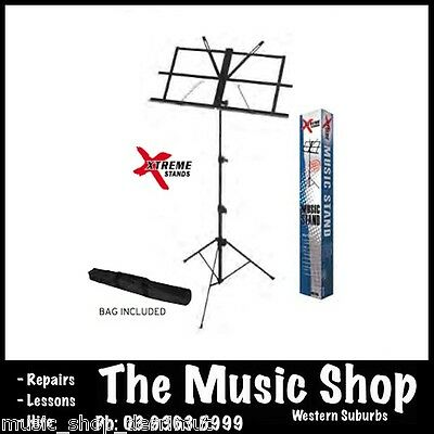 Xtreme MS105 Music Book Sheet Stand Fold-up With Carry Bag Black