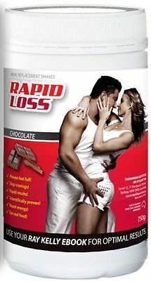 Rapid Loss Chocolate Shakes 750G Free Shaker* Meal Replacement For Weight Loss