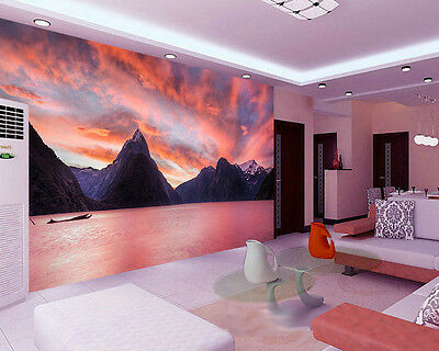 Milford Sound New Zealand Lake Full Wall Mural Photo Wallpaper Print Home 3D Dec