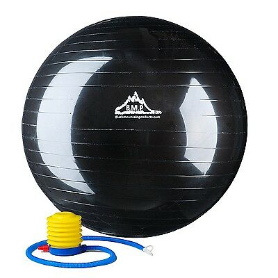 Black Mountain Products 2000-Pound Anti Burst Exercise Stability Ball with Pu...