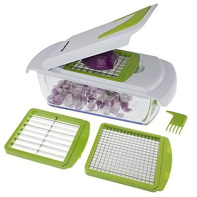 Freshware KT-405 4-in-1 Onion Chopper, Vegetable Slicer, Fruit and Cheese Cutter