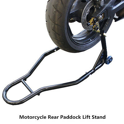 Motorcycle Motorcycle Stand Rear Forklift Spoolift Paddock Swingarm Lift Black