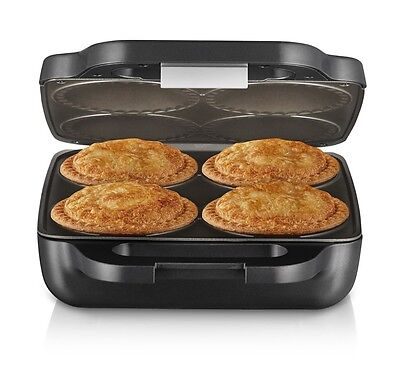 Sunbeam Pie Maker 4 Traditional Deep Sized Meat Vegetable Curry Pies Non-Stick