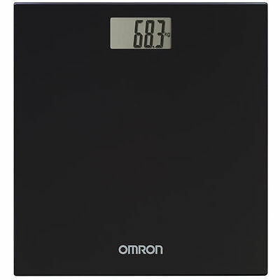 Omron Hn289 Black Digital Body Weight Scale Bathroom Sensor Accuracy 180Kg