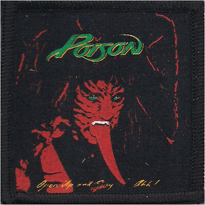 Poison Men's 1 Screen Printed Patch Black