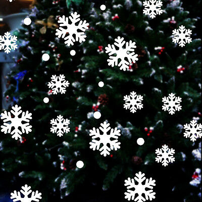 78 Qind Snowflake Christmas Home Decoration Window Clings Reusable Stickers UK