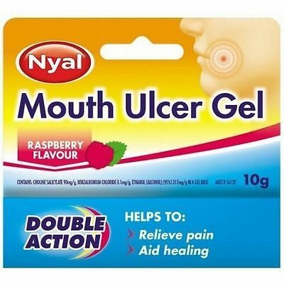 ~ Nyal Mouth Ulcer Gel Raspberry Double Action 10G
