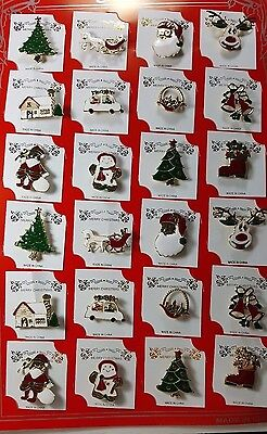 wholesale Lot of 24 pcs pretty Vintage Brooches/pin for Christmas .