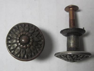 Lot of 2 Antique Phonograph Knobs Vintage Cabinet Pulls Phonograph Parts (#158)