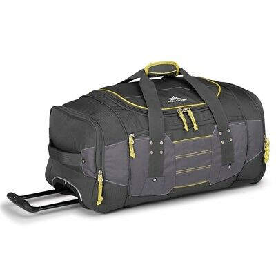 High Sierra 63608 Ultimate Access 66cm Wheeled Duffel + Backpack Straps Charcoal