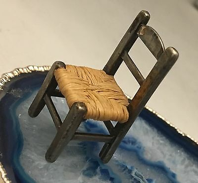 BEAUTIFUL Hand Crafted Sterling Silver Miniature Chair Hallmark - Dollhouse-L355