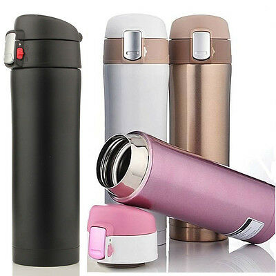 500ML Stainless Steel Travel Mug water Vacuum insulated Thermal Cup Bottle GB