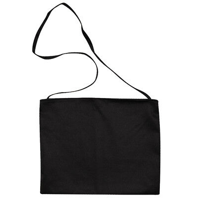 Traditional Cycling Musette Feed Race Tote Bag - Plain Black