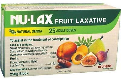 Nu-Lax Natural Fruit Laxative Senna & Fig 250G Block Constipation Treatment