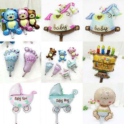 1/5Pcs Creative Foil Christening Balloons Decor Birthday Party For Kids Gift
