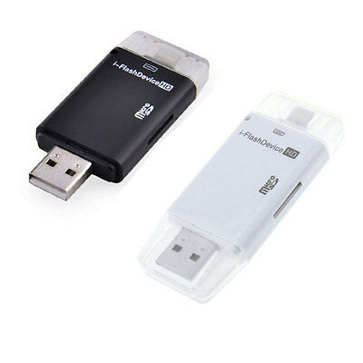 i-Flash Drive Device SD TF Memory Card Reader OTG Adapter For iPhone 5 6 6Plus
