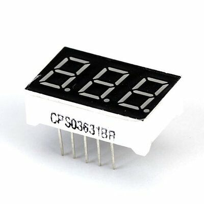 W6 0.36inch 3 Digit Red LED Display Common Anode