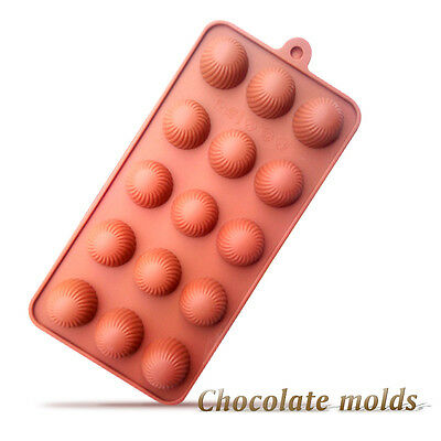 New 15-Cavity Velvet Pattern Round Ball Shape Chocolate Silicone Cake Mold Mould