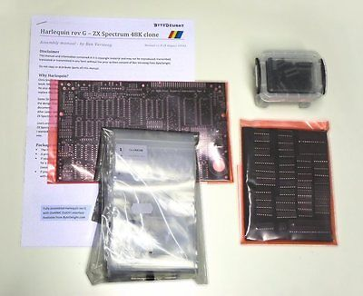 Harlequin rev G ZX Spectrum clone BLACK board LARGE kit with all parts excl. ROM