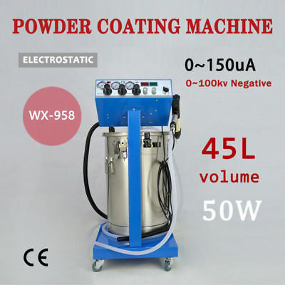 WX-958 Powder Coating System with Spraying Gun Electrostatic Machine 110/220V