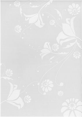 White floral vellum paper -  Scrapbooking, card making, Invitations - 10 sheets