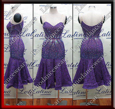 Latin Rhythm Salsa Ballroom Competition Dance Dress - Size S, M, L (Lt918)