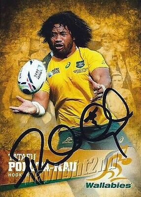 ✺Signed✺ 2016 WALLABIES Card TATAFU POLOTA-NAU