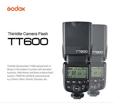 Godox TT600 GN60 2.4G Camera Flash Speedlite for Canon Nikon Pentax DSLR