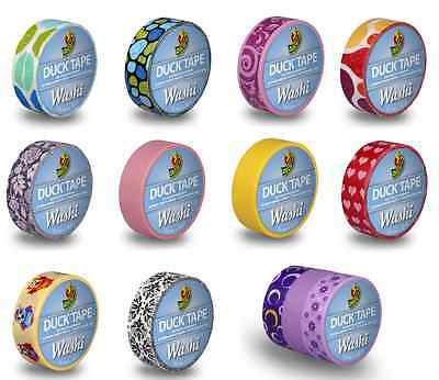 Duck Tape Mini WASHI Colours & Patterns 15mm x 10m Craft Art