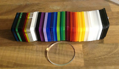 Clear Acrylic Circles / Discs In 3Mm Thick  Perspex Acrylic  New With Film On