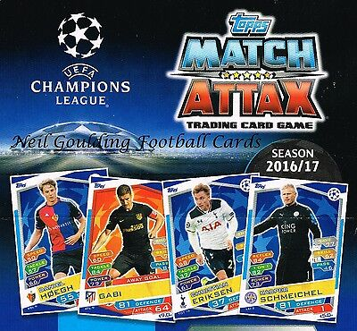 Champions League MATCH ATTAX 2016/2017 Individual Player Cards (inc. Barcelona)