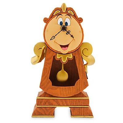 Brand New AUTH Disney Store Cogsworth Clock - Beauty and the Beast