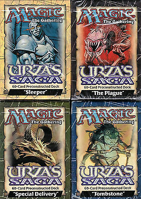 Mtg - Urza's Saga - Set Of Four Theme Decks