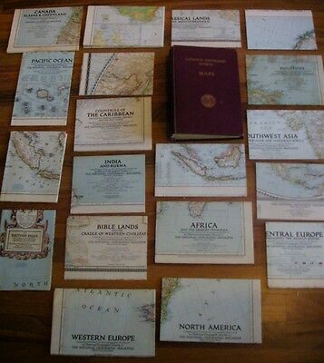National Geographic Society Maps - 20 Cartes du monde - 20 World Maps.