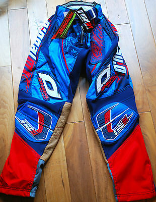 Oneal Hardwear Usa Racing Bike Bmx Motocross Trousers Pants Navy Blue Size 28""