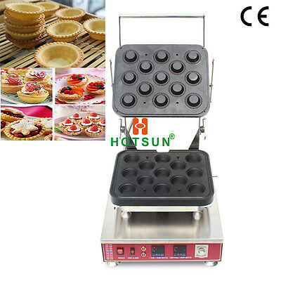 Commercial Electric Tart Pastry Ice Cream Waffle Bowl Maker W Removable Plate