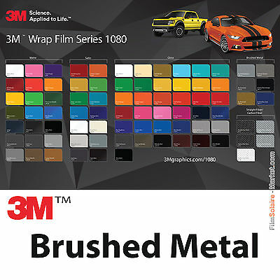 3M Wrap Film 1080 Brushed Metal Various colors and dimensions car wrapping